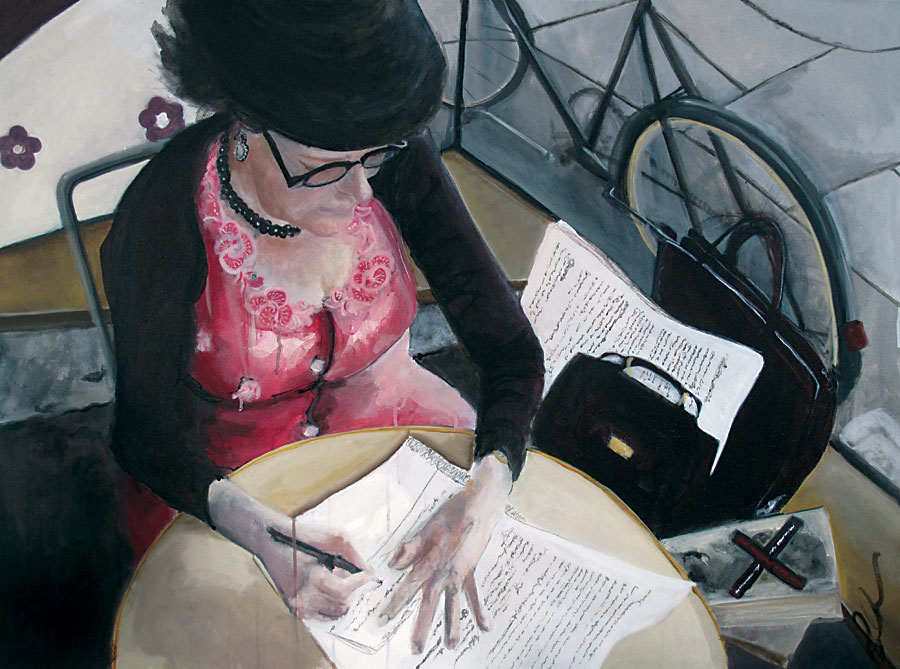 Lyno Writing At Cavallero