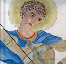 St. George. A Fresco style painting for the Hellenice Republic Restaurant