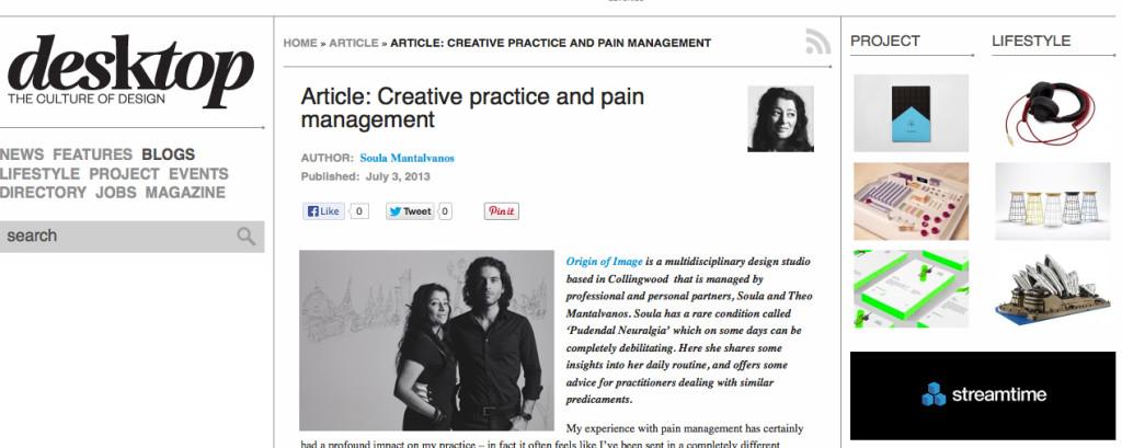 Desktop Creative Practice & Pain
