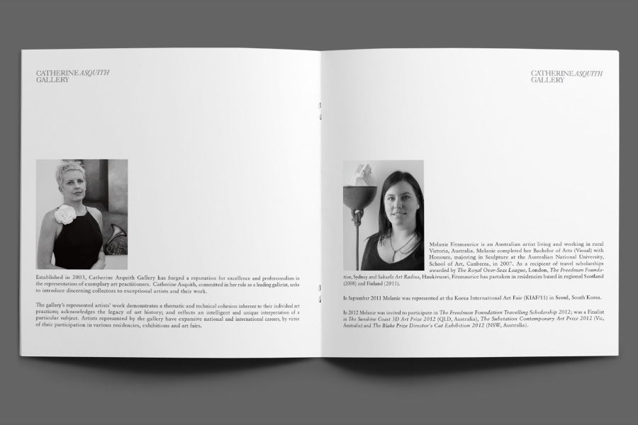 Melanie Fitzmaurice catalogue