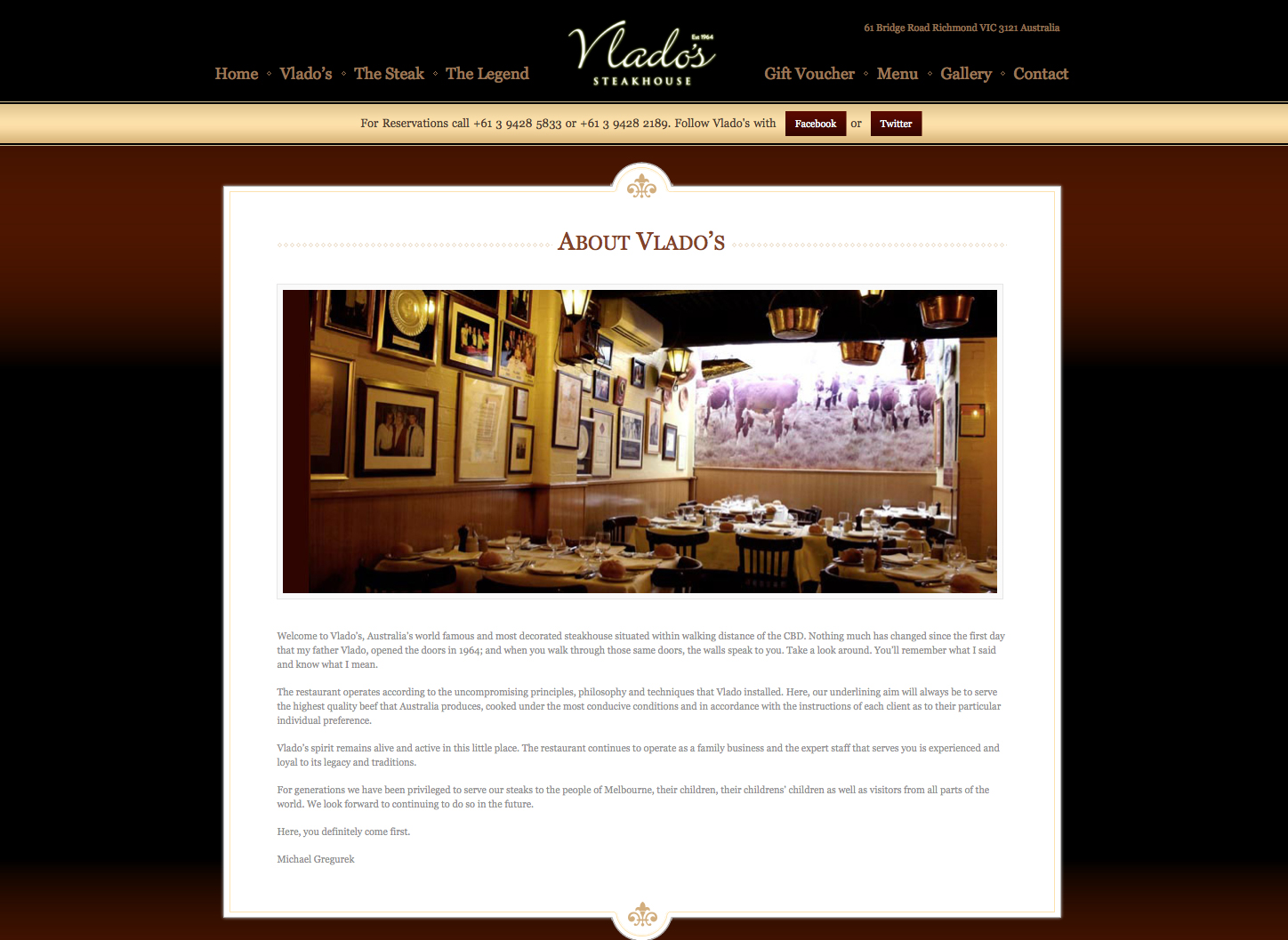 Vlado's Steakhouse