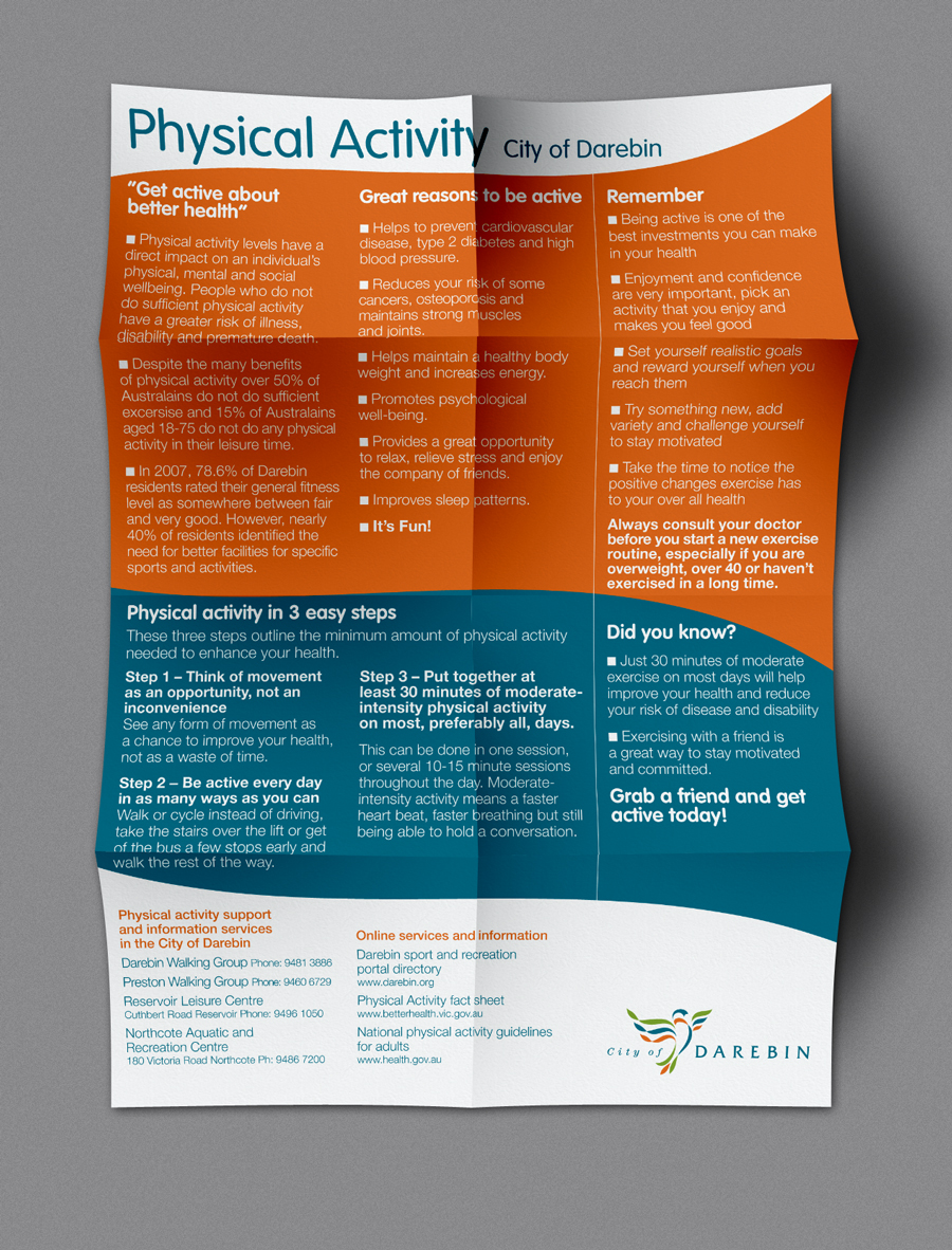 Darebin Health Posters - Physical Activity