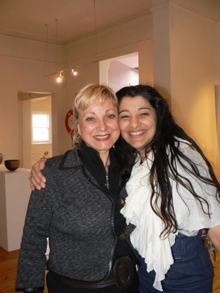 Soula & Tina Banitska at Winter Light opening at The Convent Daylesford