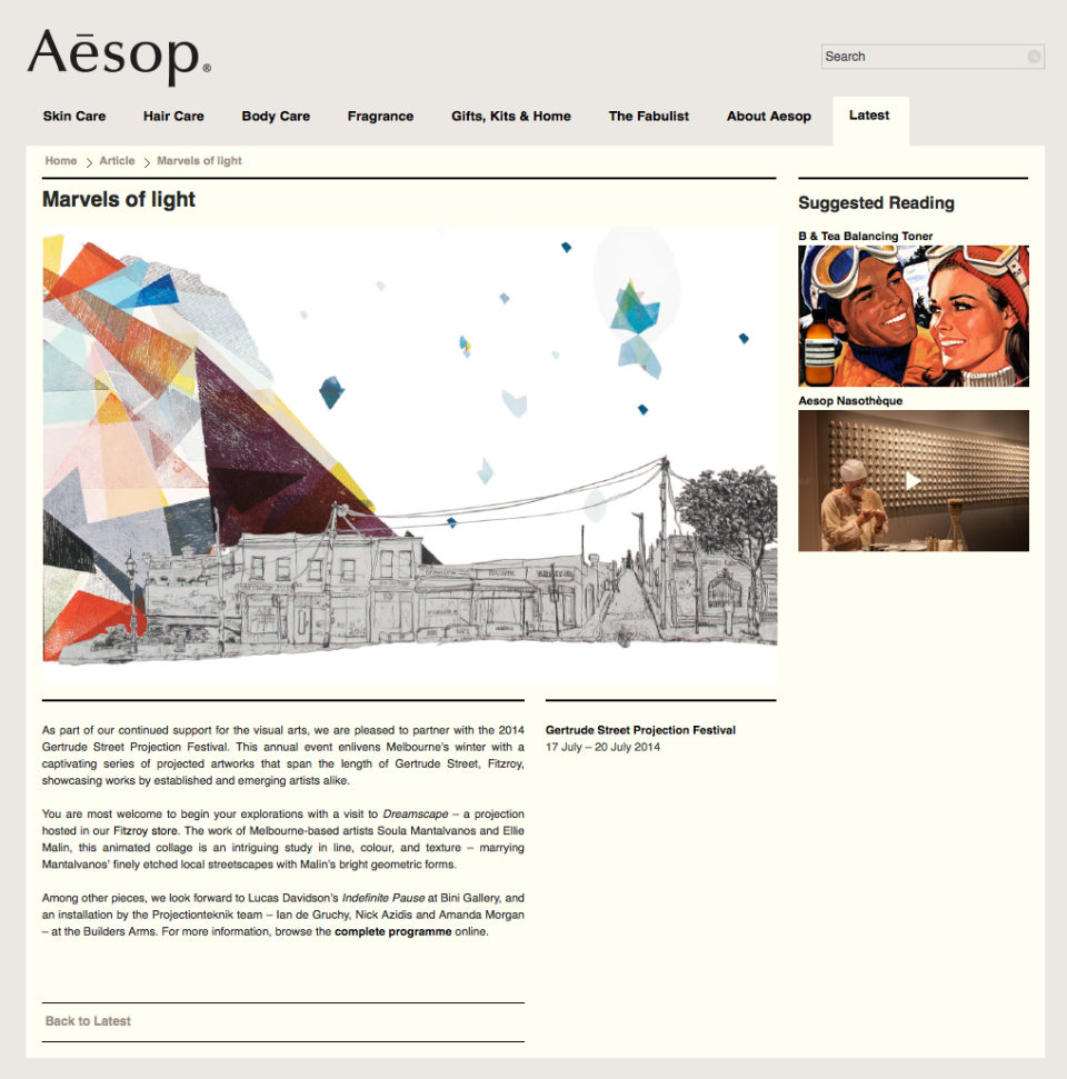 Aesop Newsletter