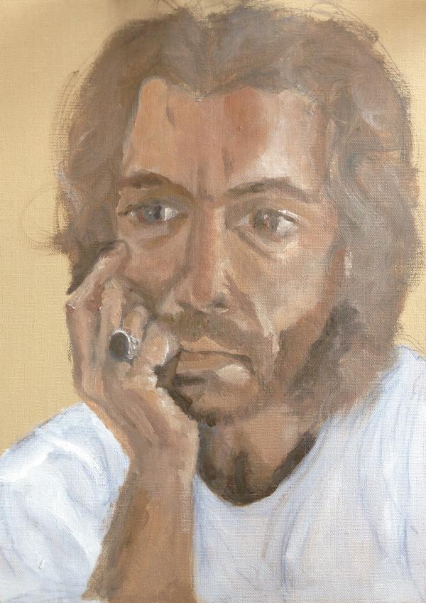 Study,-Portrait-of-Theo by soula Mantalvanos