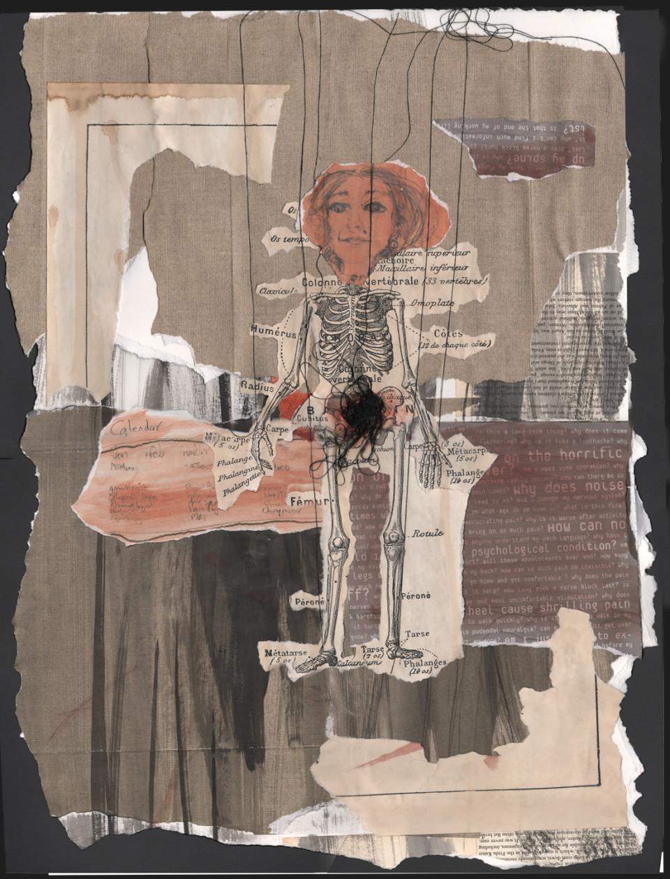 Self Portrait, collage 4. $780
