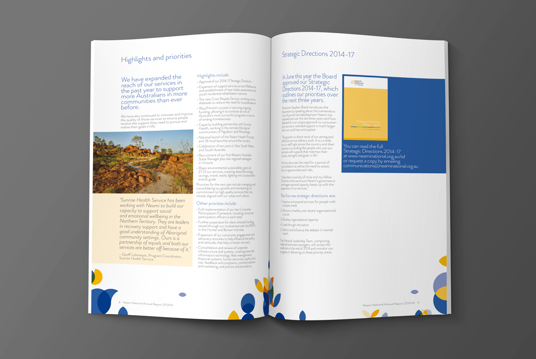 Neami National Annual Report 2014 ©ooi