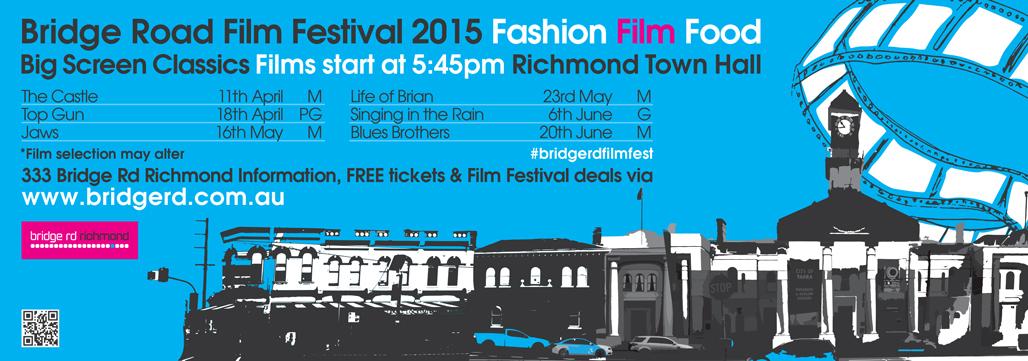Bridge Road Film Festival 2015 news ad