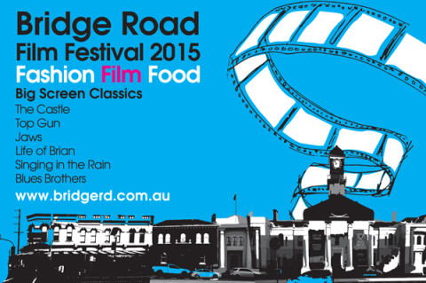 Bridge Road Film Festival 2015 postcard front
