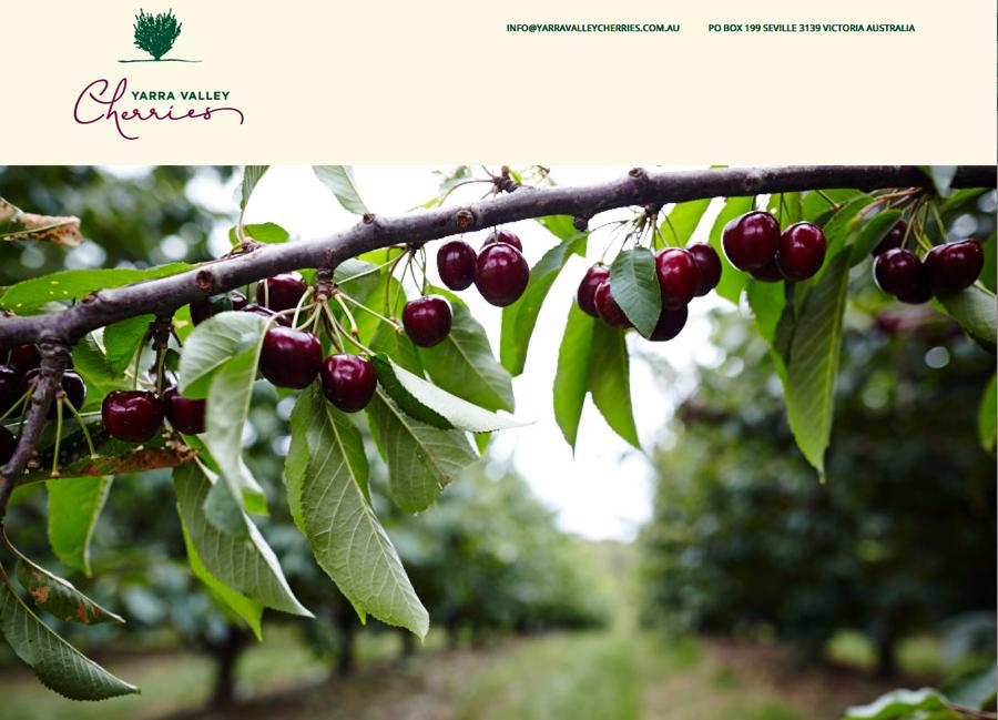 Yarra Valley Cherries website