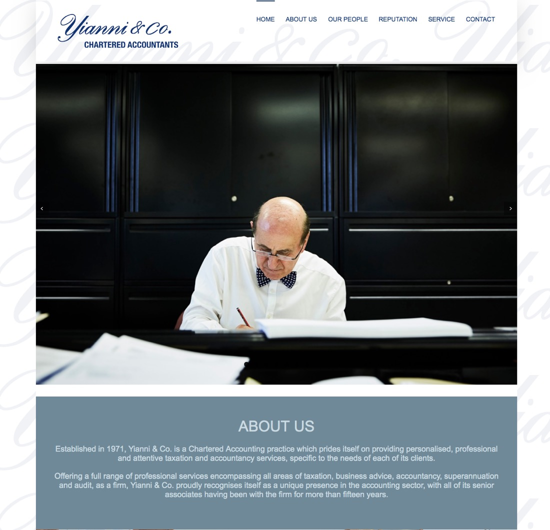 Yianni & Co website